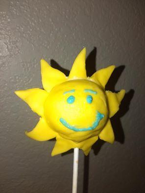 Sun Cake Pop