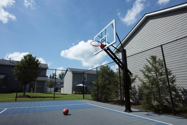 Sport Court with Stainless Steel Basketball Hoop