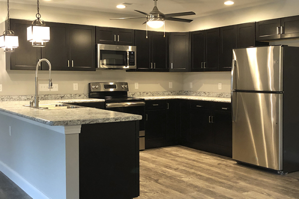 STATE-OF-THE ART KITCHEN WITH GE STAINLESS STEEL APPLIANCES