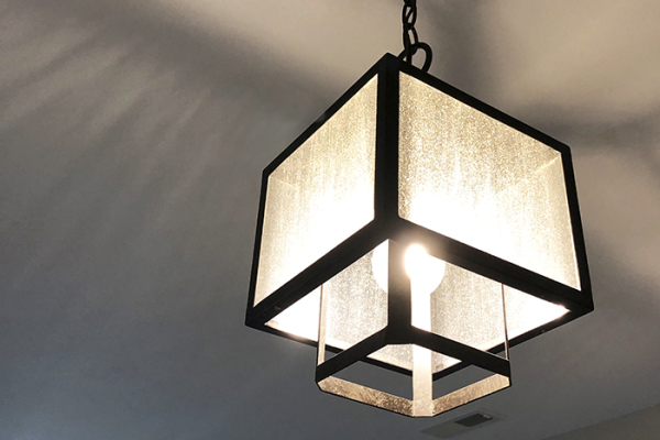 MINI PENDANT LIGHTS WITH CLEAR SEEDED GLASS