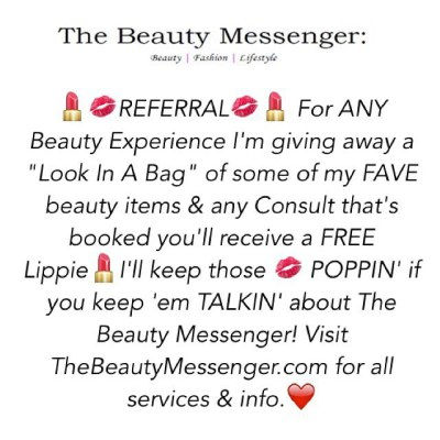 The Beauty Messenger : Referrals & Giveaway