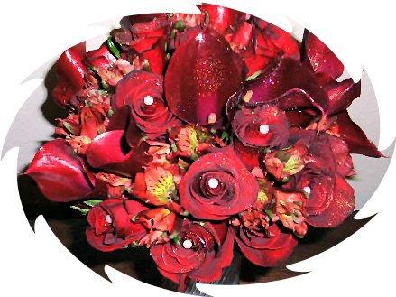 Monochromatic red bouquet.