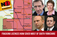 Fracking licenses around Barnsley and Barnsley MPs