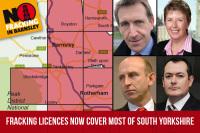 Fracking licenses around Barnsley and Barnsley MPs