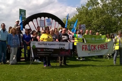 Fantastic turnout at Dearne Walk against Fracking