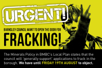 Urgent barnsley council want to open the door for fracking