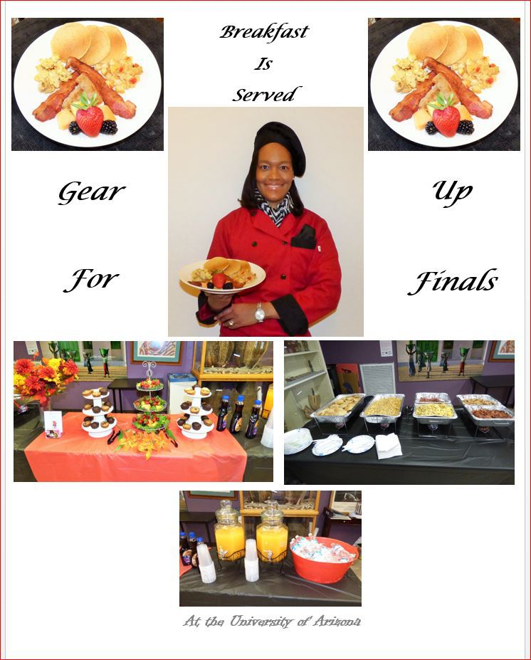 University of Arizona Gear up for Finals Breakfast May 2016