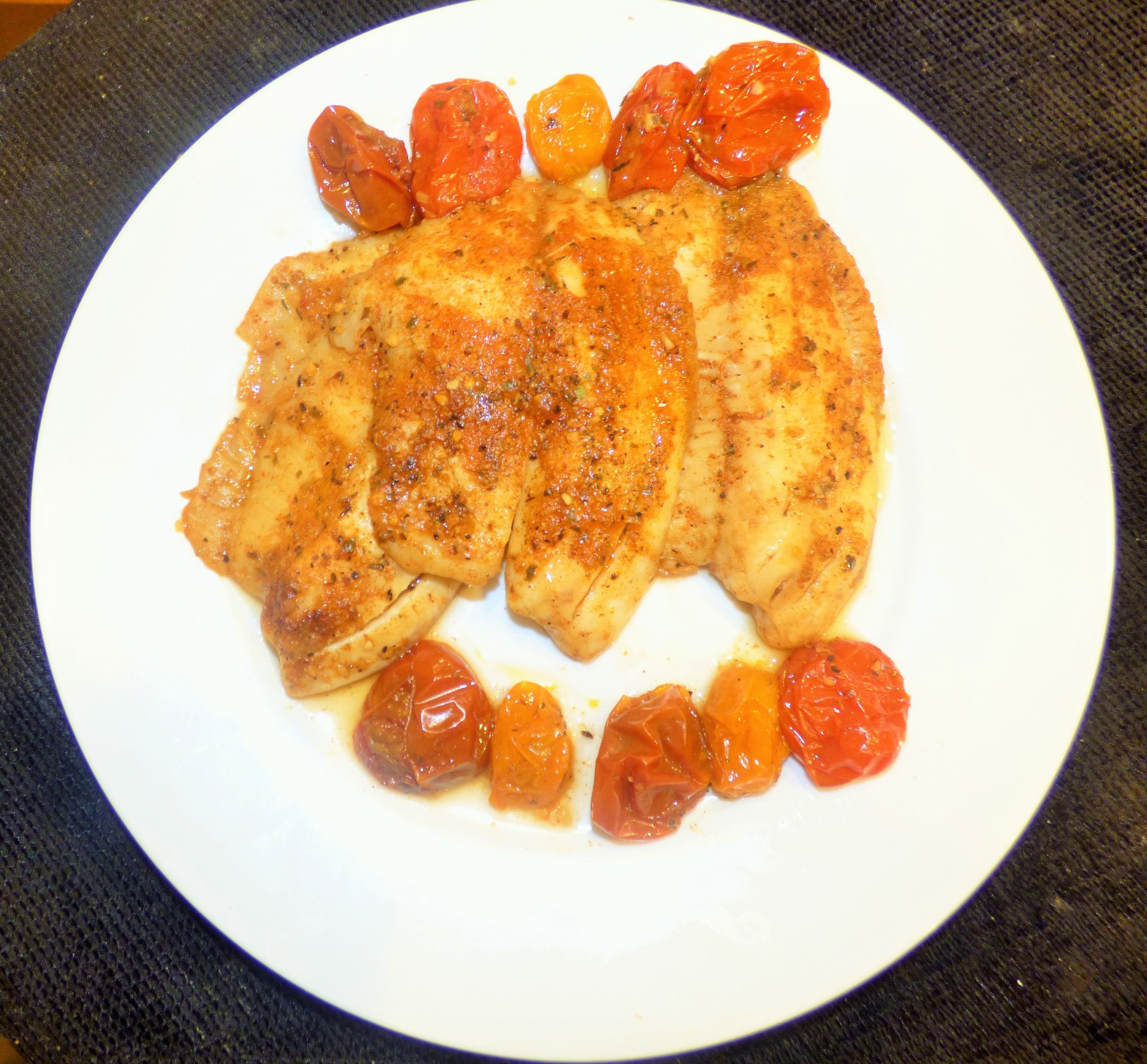Roasted Tilapia with Heirloom Tomatoes