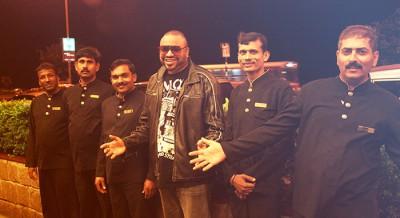 Rico Sanchez touring in Bollywood (Mumbai, India) Hotel Marine Plaza