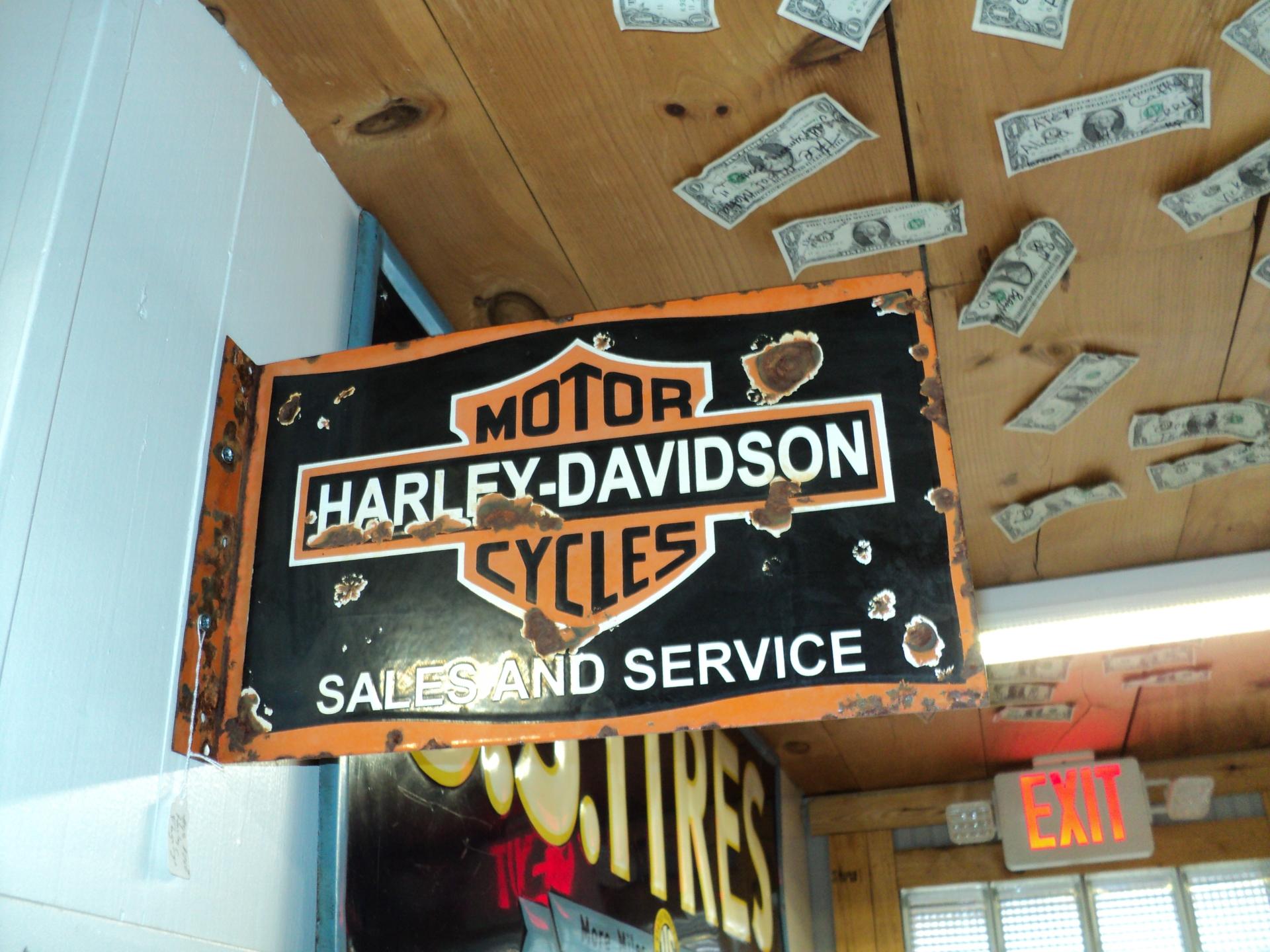 Porcelain Harley Davidson Sign