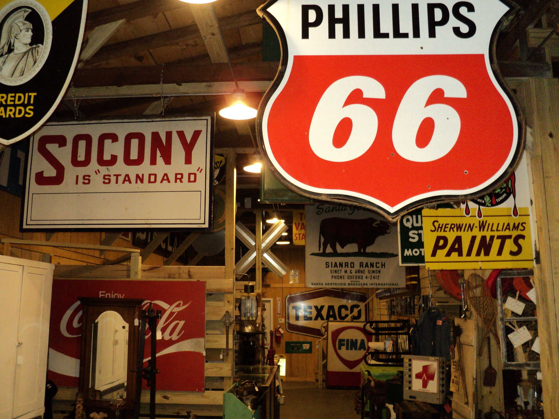 Phillips 66 and Socony Sign