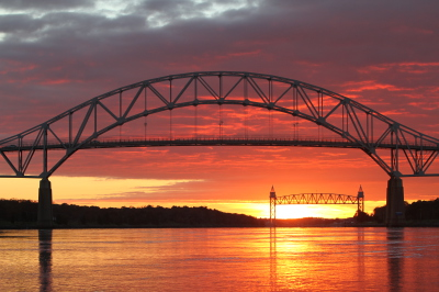 Bourne and Railroad Bridges over the Cape Cod Canal
