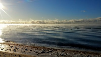 Sea Smoke off South Cape Beach, Mashpee