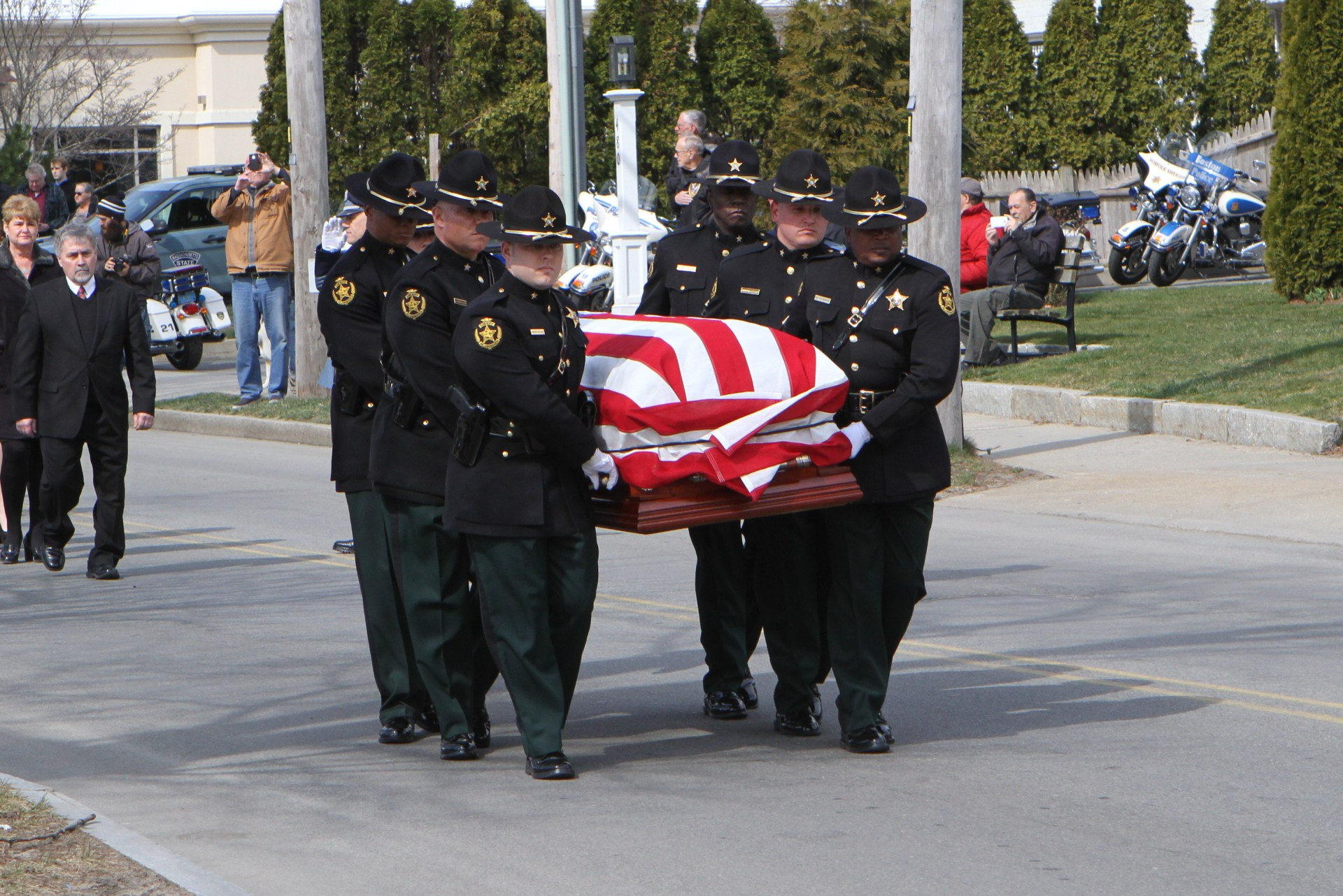 Deputy Sheriff John R. Kotfila, Jr. Funeral - Falmouth, Massachusetts - March 23, 2016