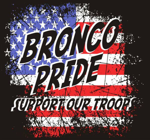 Bronco Pride Support the Troops