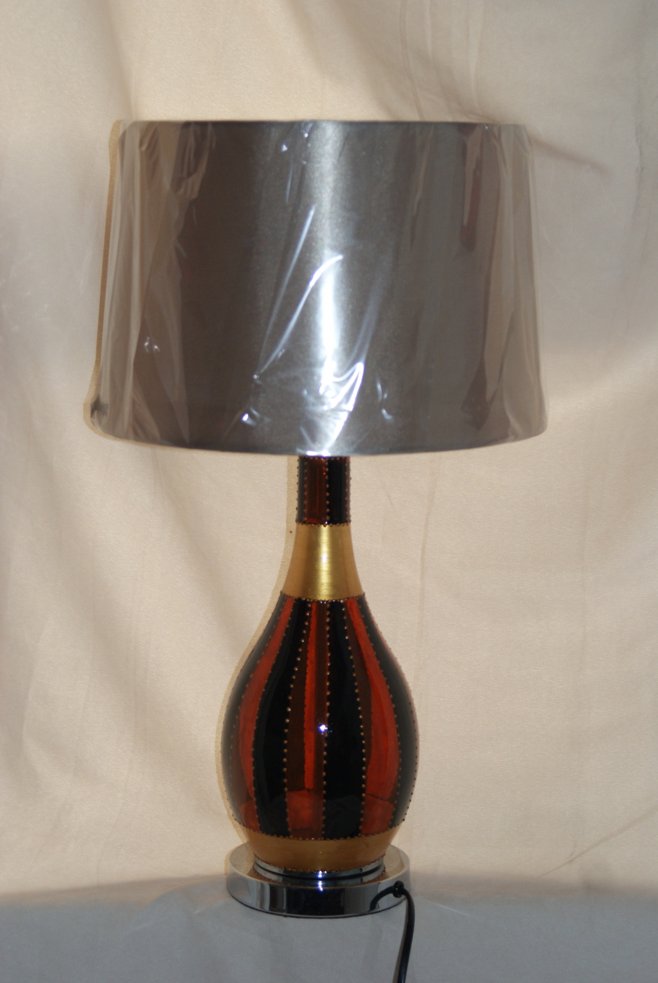 Large Tigers Eye Lamp