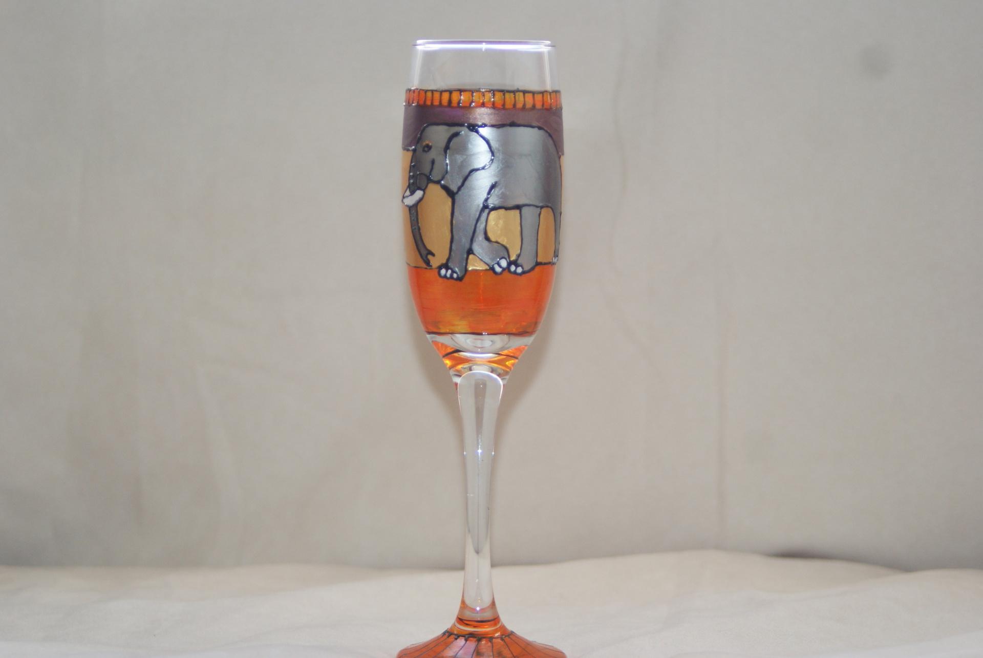 Sahara Elephants Wine Flute