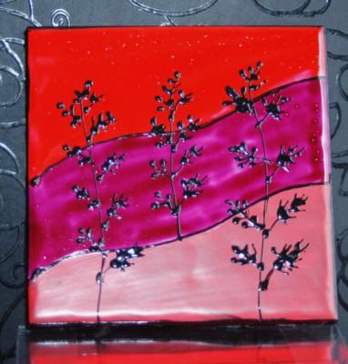 """""""Landscape"""" Coasters Red, Garnet, Pink"""
