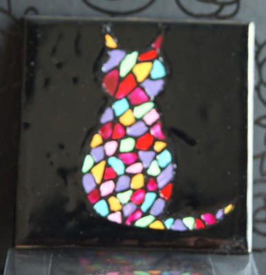 """Mosaic Cat"" Coasters"