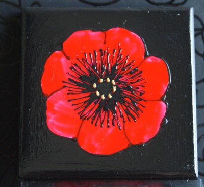 Midnight Poppy Coasters