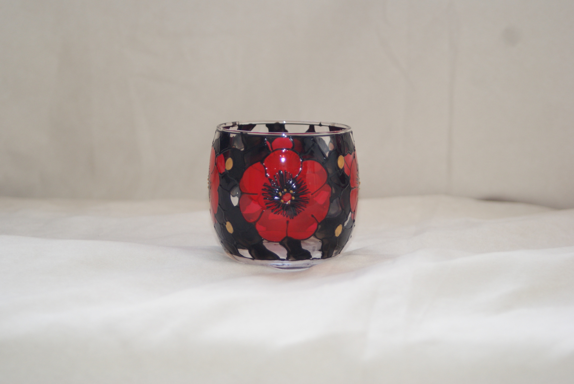"Large ""Midnight Poppy Tealight"