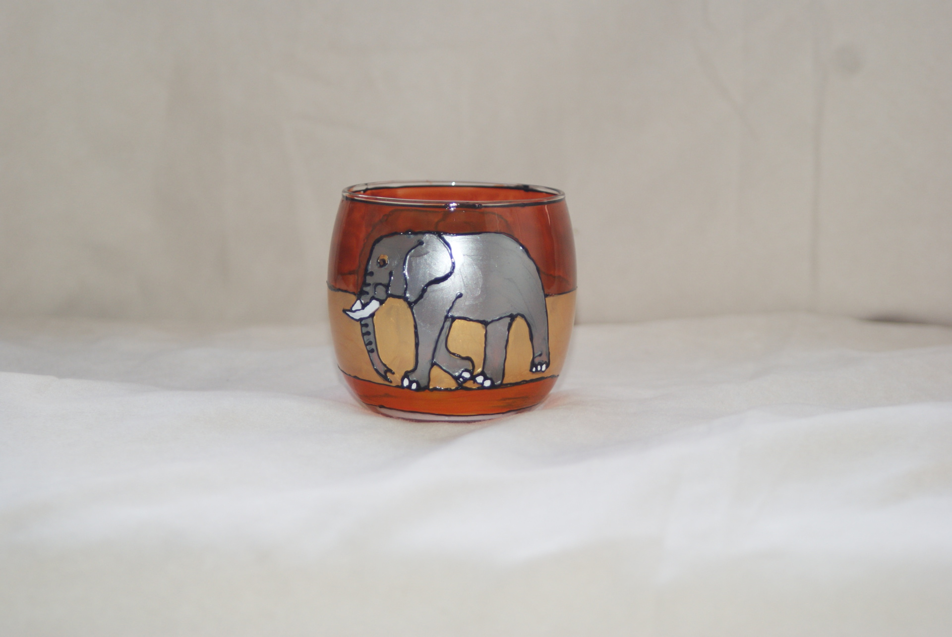 """Sahara Elephant"" large Tealight"