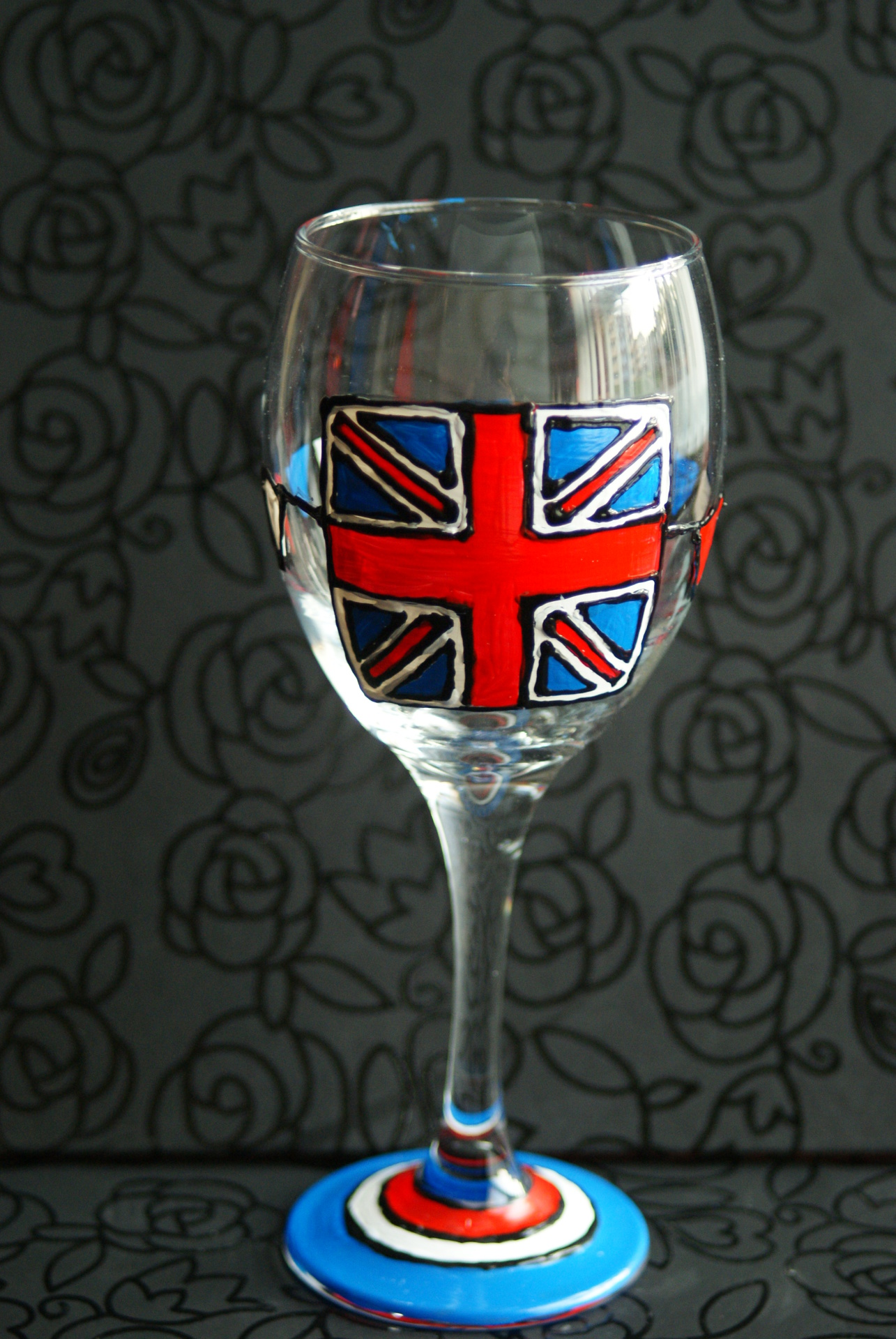 Union Jack Wineglass