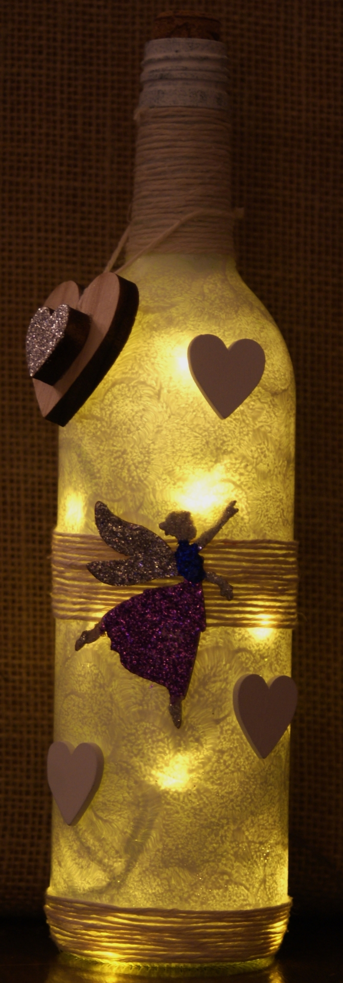 "Recycled Bottle Light ""Make a Wish"" fairy  £17.50"