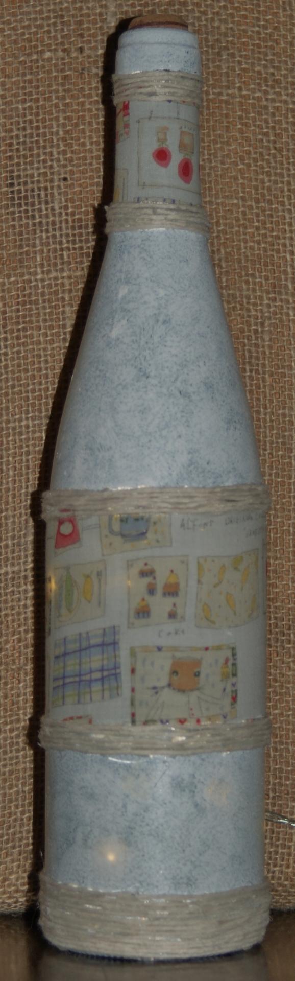 "Recycled  Wine Bottle Light ""Vintage Kitchen"" £12.50"