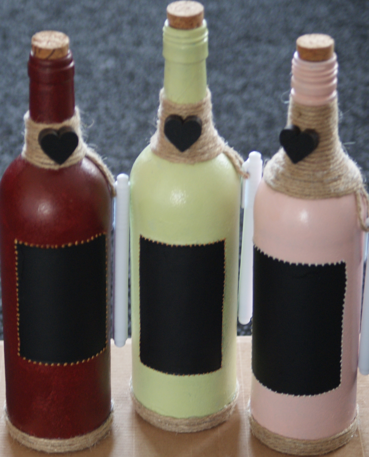 Chalk Board Heart Message Wine Bottle & Pen ( Without Light) £10.99