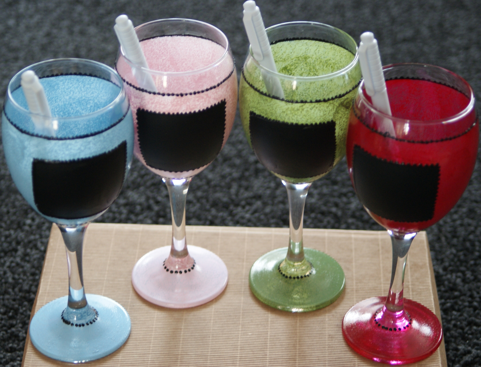 Vintage Chalk Board  Wine Glass £6.99 each