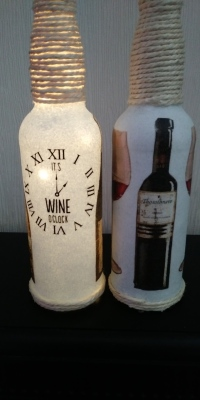 """Wine O Clock"" Bottle Light"