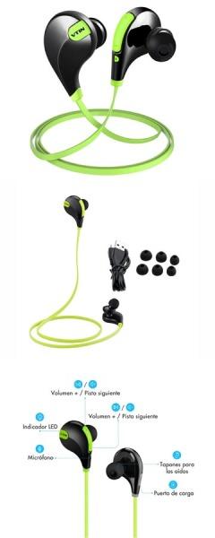 Vtin Bluetooth auriculares inalámbricos con ruido reducido y tecnología APT -X