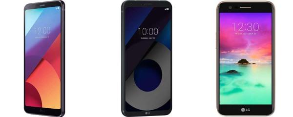 Ejemplo de celulares LG