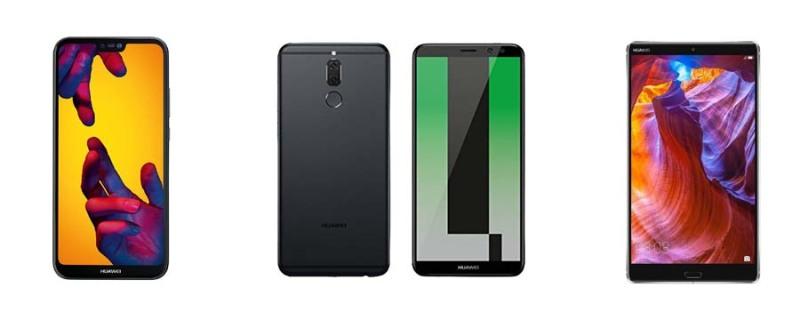 Ejemplo de celulares Huawei