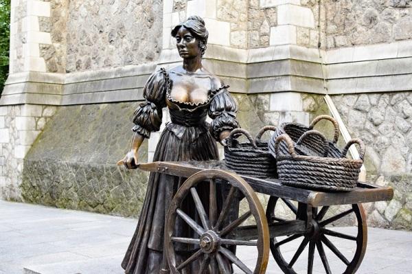 La estatua Molly Malone