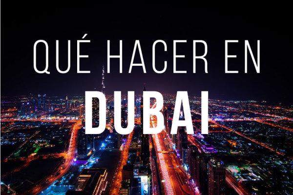 Que hacer en Dubai