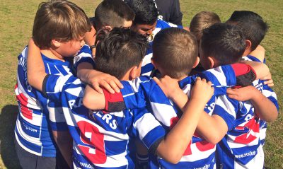 Half time huddle....