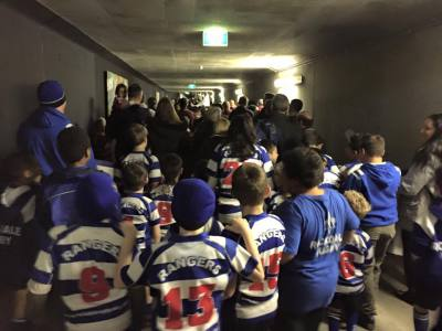 Walking up the tunnel at Allianz for March Past 201