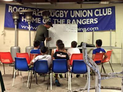 Under 10 coach explain some game strategies