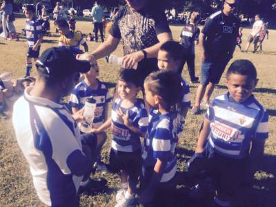 Coach Sid with the under 6's 2015