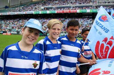 Rocky Boys waiting to take part in the guard of Honour for Waratahs game 2015