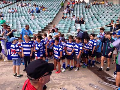 Waiting to head out on to the field for Guard of Honour 2015