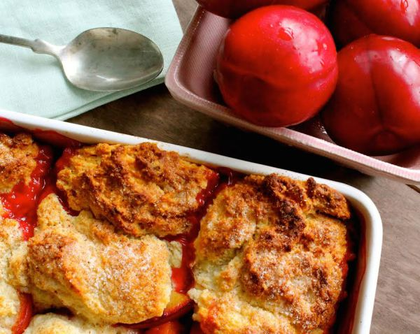 Cooking 101: Spiced Plum Cobbler