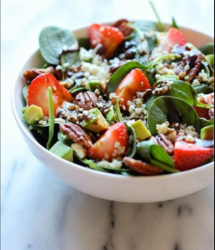 Spinach & Strawberry Summer Salad