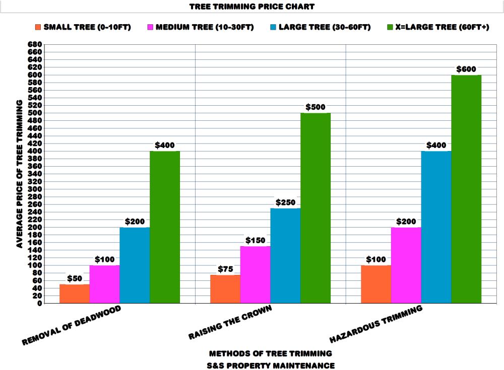 Tree Trimming Price Chart