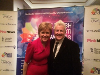 Horse McDonald with Nicola Sturgeon
