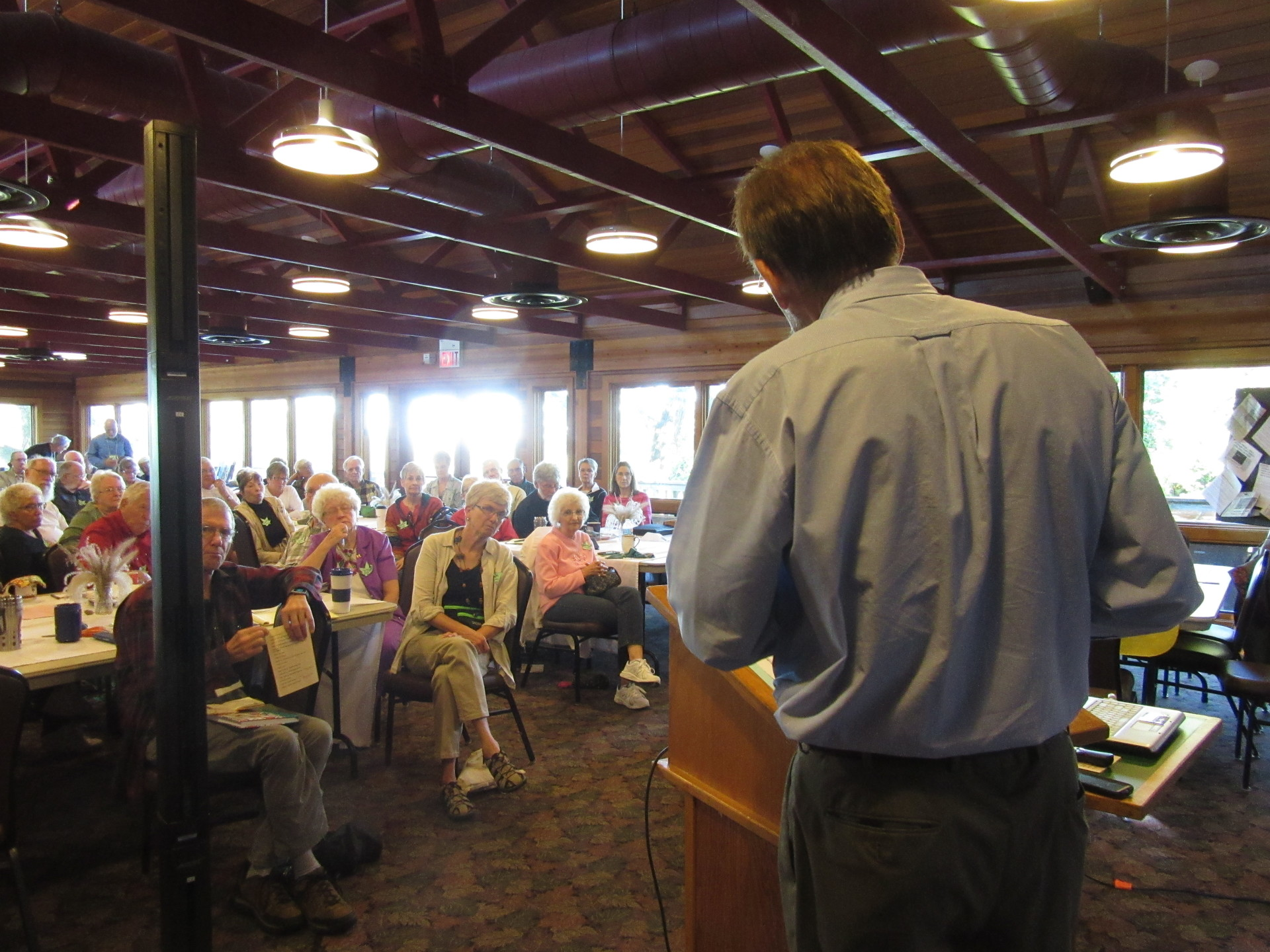 Chuck Hassebrook spoke of wind power in our state