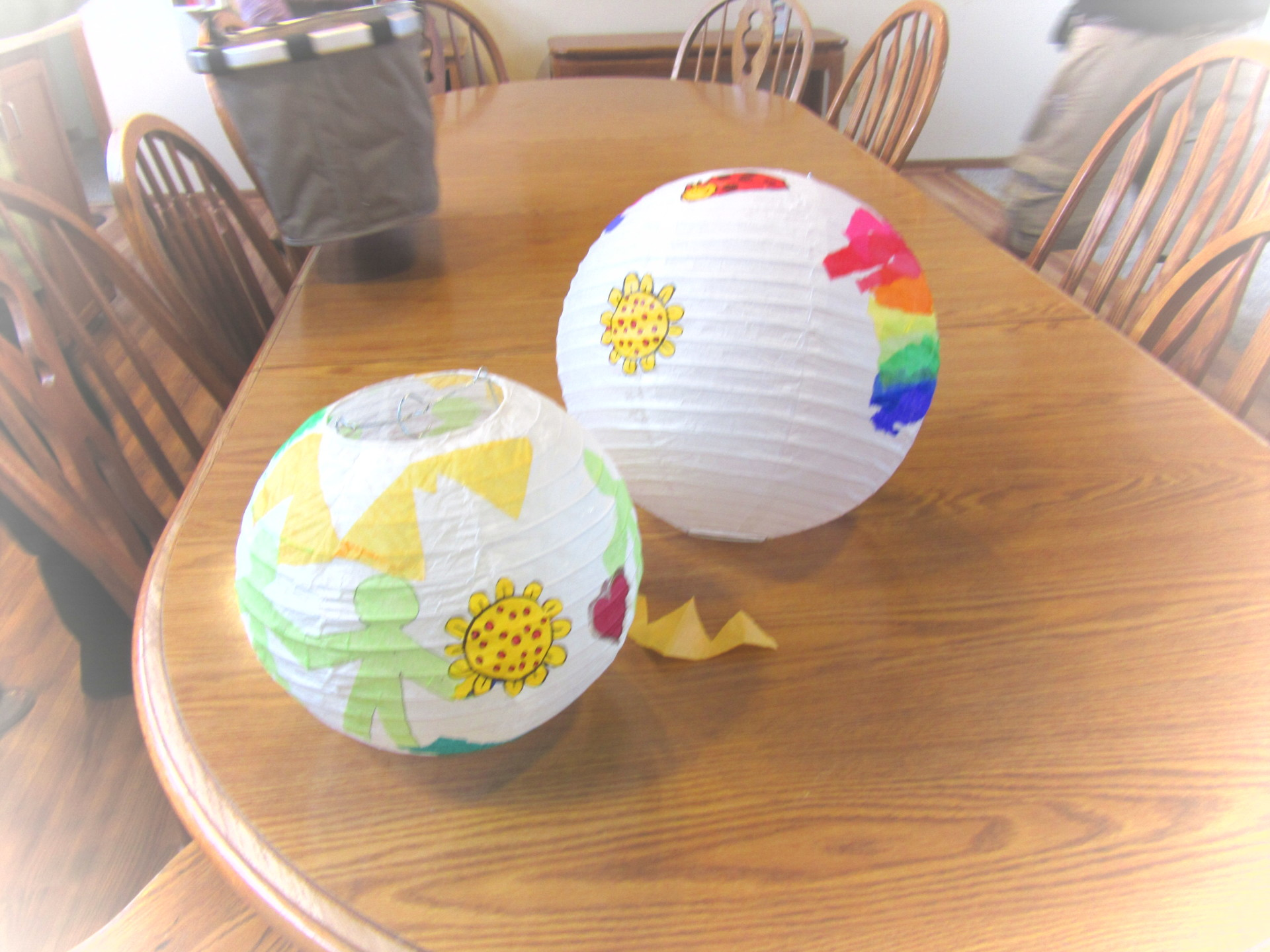 For the right brain among us....creating colorful lanterns expressing love of the earth
