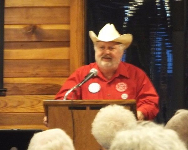 Tom Genung spoke about being an unlikely environmental activist with BOLD Nebraska